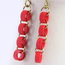 eco friendly earrings eco friendly earrings chain niobium by honeysquilling on zibbet