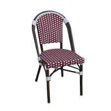 white u0026 navy bistro cafe chair tiab inc