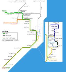 map usa florida urbanrail net america usa florida miami metro rail