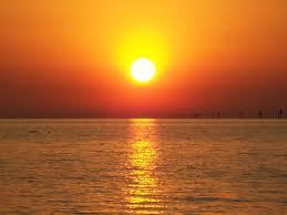 pretty beach sunset tidal treasures