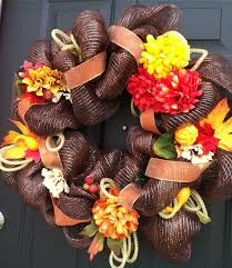 137 best thanksgiving mesh wreaths images on