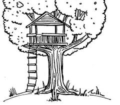 tree house 9 buildings and architecture u2013 printable coloring pages