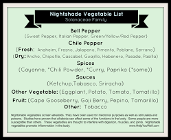 nightshade vegetable list may cause inflammation in some people