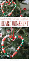 heart shaped easy christmas ornaments for kids easy christmas