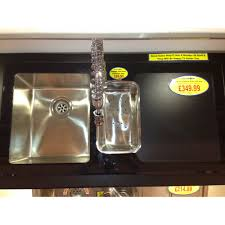 Black Glass Kitchen Sinks Black Glass 150 Sink