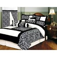 Zebra Bed Set 7 Pc Black White Micro Fur Bedding Set
