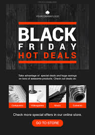 black friday email template free newsletter templates html email templates getresponse