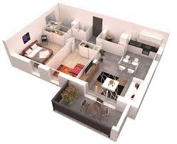 planos de departamentos de dos dormitorios selección de 50