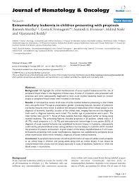 extramedullary leukemia in children presenting with proptosis pdf