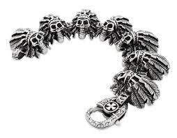 skull link bracelet images Stainless steel chief indian skull link bracelet badass jewelry jpg