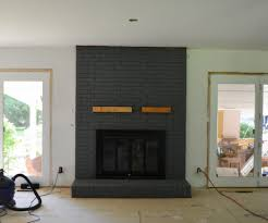 enchanting painted brick fireplace how to paint a brick fireplace