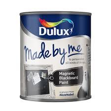 dulux black magnetic matt chalkboard paint 750ml rooms diy at b u0026q