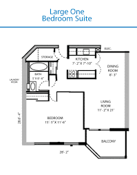 floor plan of the large one bedroom suite quinte living centre
