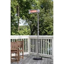stainless steel outdoor patio heater steel telescoping offset pole mounted infrared patio heater