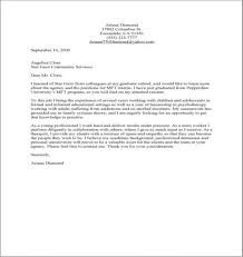 Working With Children Resume Mental Health Assistant Cover Letter