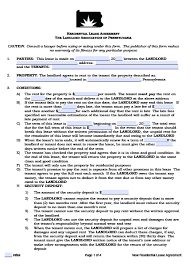 free pennsylvania residential lease agreement pdf word doc