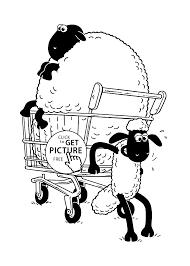 shaun sheep coloring pages glum