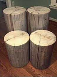 Tree Trunk Table Amazon Com Bare Decor Adi Round Tree Stump End Table Stool
