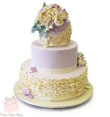 Wedding Cake Quotes Lavender Ruffle Wedding Cake Spring Wedding Cakes