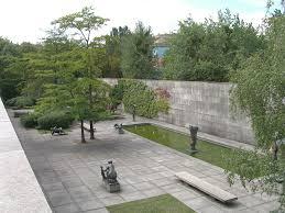 berlin mies van der rohe modern museum courtyard landscape
