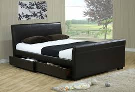 diamonds brown leather bed frame cheap leather beds