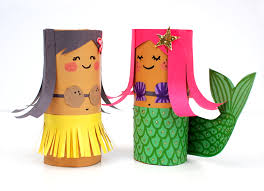 toilet paper roll crafts for kids hula u0026 mermaid super impulse