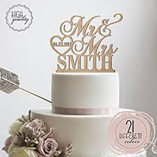 in cake toppers personalized wedding cake topper mr mrs heart