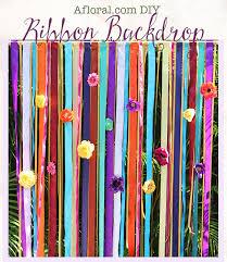 ribbon backdrop afloral diy ribbon wedding backdrop diy afloral