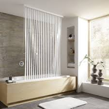kleine wolke vinyl white stripe shower roller blind w1340 x