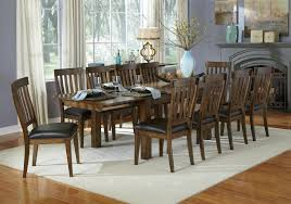 11 dining room set 11 dining table and slatback chairs set by aamerica wolf