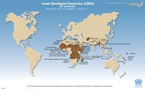African Countries Map Unctad Org Map Of The Least Developed Countries Ldcs