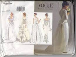 wedding dress patterns free vogue 1325 wedding dress 6 8 10 bridal sewing pattern for sale