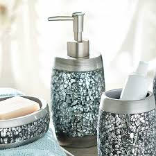 Bath Accessories Collections Mirrored Bathroom Accessories Home Design Ideas