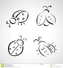 sketch icons ladybug stock photos image 35840493