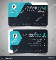 blue black modern creative business card stock vector 566666917