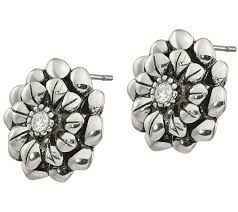 flower stud earrings stainless steel flower stud earrings qvc