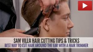 hair under ears cut hair how to cut hair around the ear without making it look choppy video