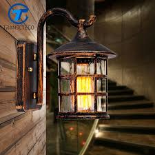 Outdoor Wall Sconce Transctego Country Style Outdoor Wall Sconce L Retro Luminaria
