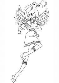 winx club indian fairy coloring free printable coloring pages