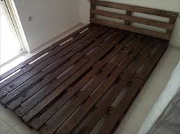 Pallet Platform Bed Repurposed Rustic Pallet Platform Bed With Headboard мебель