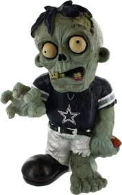 dallas cowboys zombie figurine