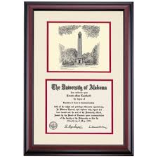 of alabama diploma frame alabama premier denny chimes pen and ink diploma frame the