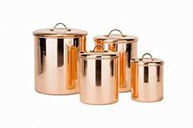 copper kitchen canister sets amazon com old dutch 4 piece copper canister set kitchen dining