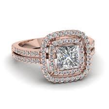 princess cut halo engagement ring princess cut halo engagement ring in 14k gold