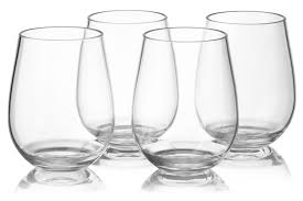 notmog 24 stemless glasses wholesale set unbreakable reusable
