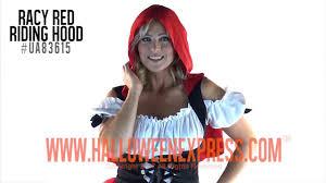 women u0027s racy red riding hood costume ua83615 youtube