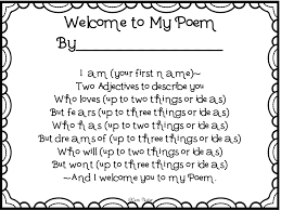 creative playground welcome to my poem back to school craftivity