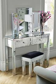 folding dressing table mirror knightsbridge mirrored set with accent and crystal handles