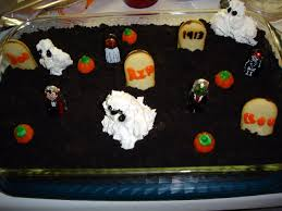 halloween graveyard cake recipe