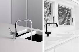 Kitchen Faucet Fixtures by Vola Kv4 3 Hole Deck Mounted Basin Or Kitchen Faucet With Double